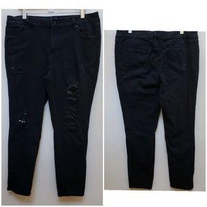 2🍋/$30 Artisan NY Distressed Sequin Skinny Jean